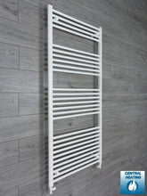 Load image into Gallery viewer, 750mm Wide 1600mm High White Towel Rail Radiator With Straight Valve