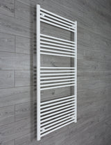 750mm Wide 1600mm High White Towel Rail Radiator