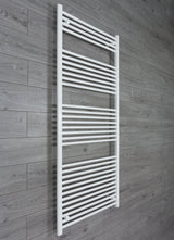750mm Wide 1800mm High White Towel Rail Radiator