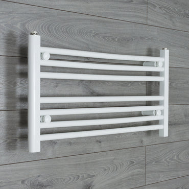 850x400mm Flat White Electric Element Towel Rail
