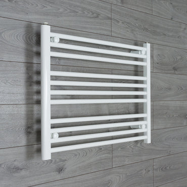 750x600mm Flat White Electric Element Towel Rail