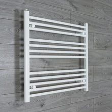 Load image into Gallery viewer, 800mm Wide 700mm High White Towel Rail Radiator