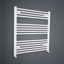 Load image into Gallery viewer, 900 mm High x 800 mm Wide Heated Towel Rail Radiator Flat White