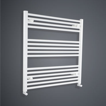 900 mm High x 800 mm Wide Heated Towel Rail Radiator Flat White