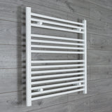 850x800mm Flat White Electric Element Towel Rail