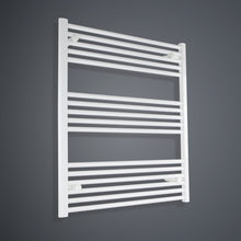 Load image into Gallery viewer, 900 mm High x 800 mm Wide Heated Towel Rail Radiator White - Elegant Radiators