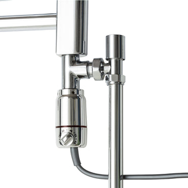 GT Chrome Thermostatic Dual Fuel Kit for Towel Rail