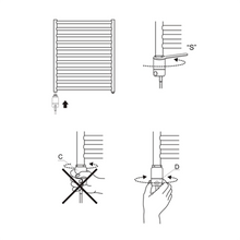 Load image into Gallery viewer, Towel Radiator GT Element Fitting Diagram Schema Elegant-Radiators