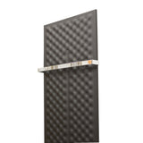 Designer Inno Style 1600 mm High x 450 mm Wide Heated Towel Rail Radiator Black - Elegant Radiators