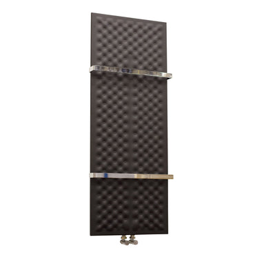 Designer Inno Style 1200 mm High x 450 mm Wide Heated Towel Rail Radiator Black - Elegant Radiators