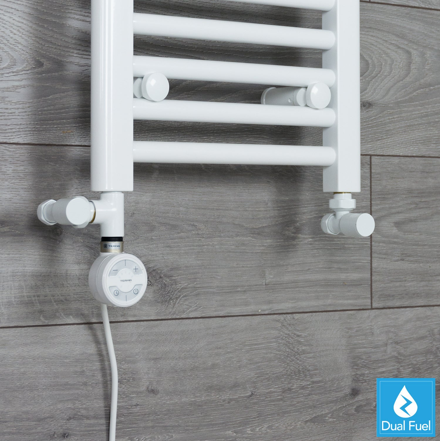 Dual Fuel Kit White Thermostatic Heating Element - Moa for Heated Towel Rail Radiator