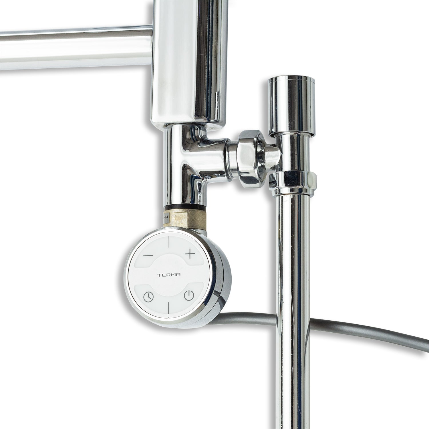 Moa thermostatic element dual fuel kit for towel rail in chrome
