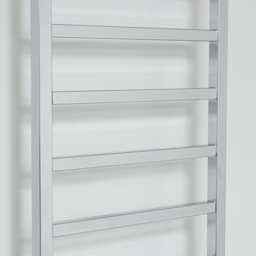 1700 mm High 500 mm Wide Chrome Square Tube Heated Towel Rail Radiator