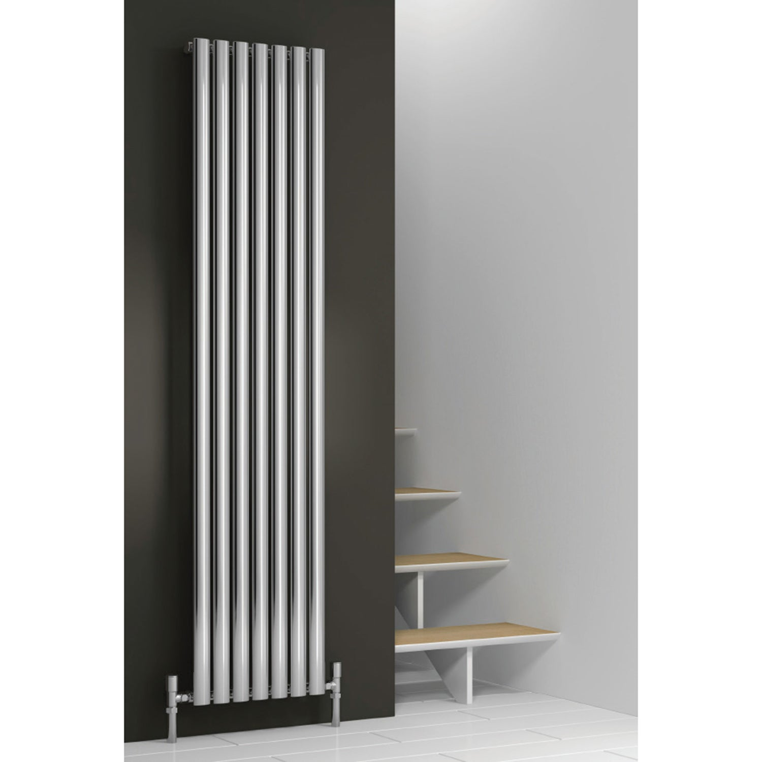 Reina Designer Chrome Neva Vertical Steel Radiator