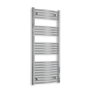 1200 mm High 600 mm Wide Heated Curved Towel Rail Radiator Chrome