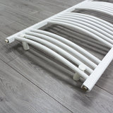 1600 mm High 500 mm Wide Heated Curved Towel Rail Radiator White Central heating or Electric