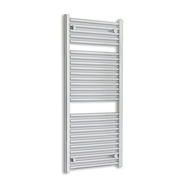 500mm Wide 120mm High Chrome Towel Rail Radiator