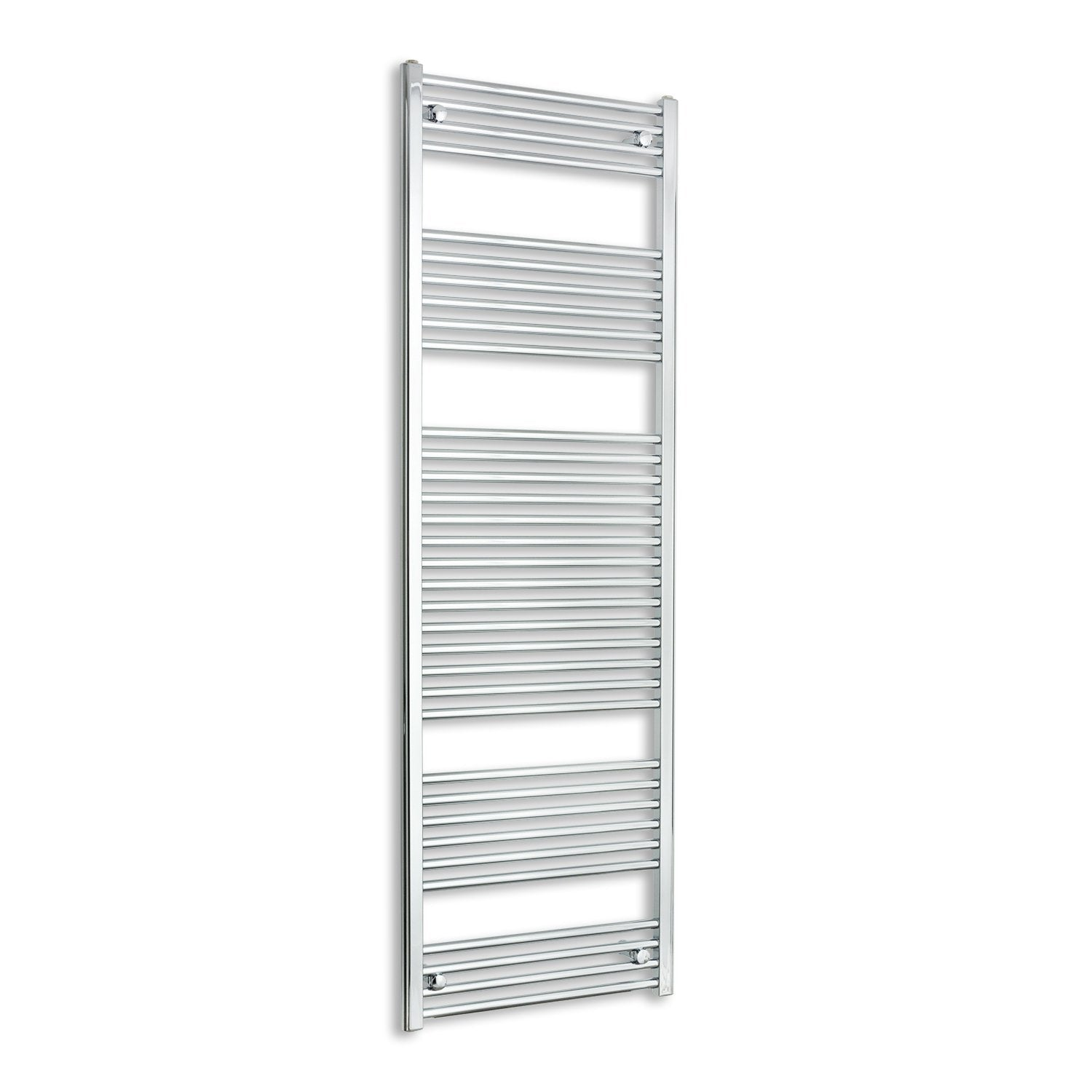 500mm Wide 1800mm High Chrome Towel Rail Radiator