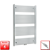 750mm Wide 1200mm High Pre-Filled Chrome Electric Towel Rail Radiator With Thermostatic GT Element