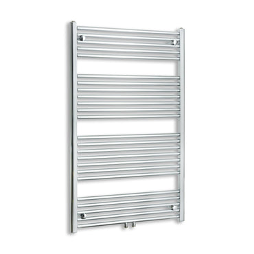 750mm Wide 1200mm High Chrome Towel Rail Radiator