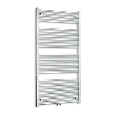 750mm Wide 1500mm High Chrome Towel Rail Radiator