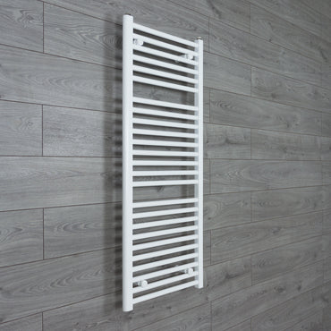 1200 x 500 mm Heated Flat Towel Rail Radiator White Central heating or Electric