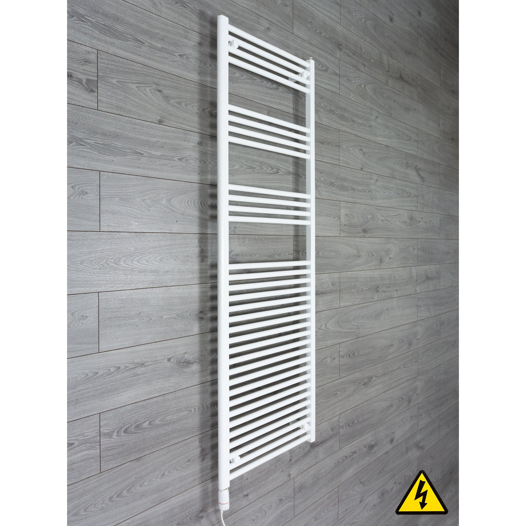 1800 mm High 500 mm Wide Heated Flat Towel Rail Radiator White Central heating or Electric