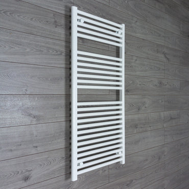 1200 mm High 600 mm Wide Heated Flat Towel Rail Radiator White Central heating