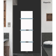 Load image into Gallery viewer, Designer Plate Style 1500 mm High x 500 mm Wide Heated Towel Rail Radiator White - Elegant Radiators