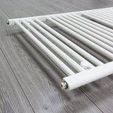 700mm x 1700mm White Heated Towel Rail Radiator Close Up Image