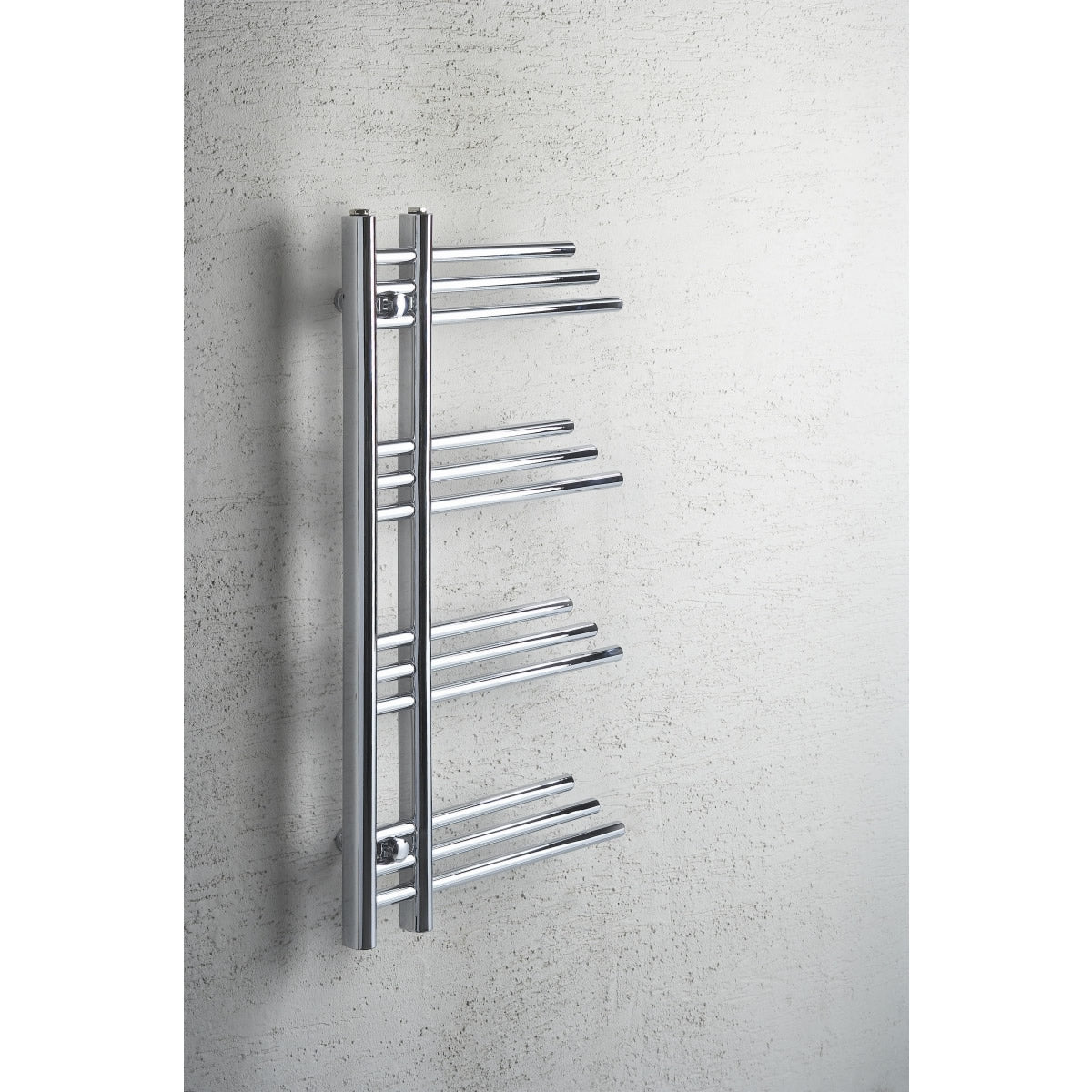 500mm Wide 900mm High Chrome Towel Rail Radiator