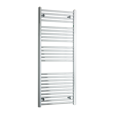 550mm Wide 1300mm High Chrome Towel Rail Radiator
