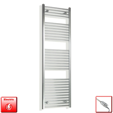1700 mm High 550 mm Wide Pre-Filled Electric Heated Towel Rail Radiator Chrome HTR