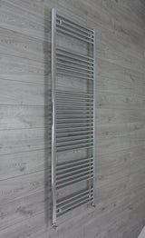 500mm Wide 1850mm High Chrome Towel Rail Radiator With Angled Valve