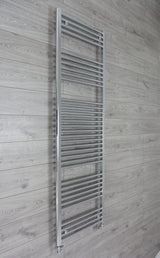 500mm Wide 1850mm High Chrome Towel Rail Radiator With Straight Valve
