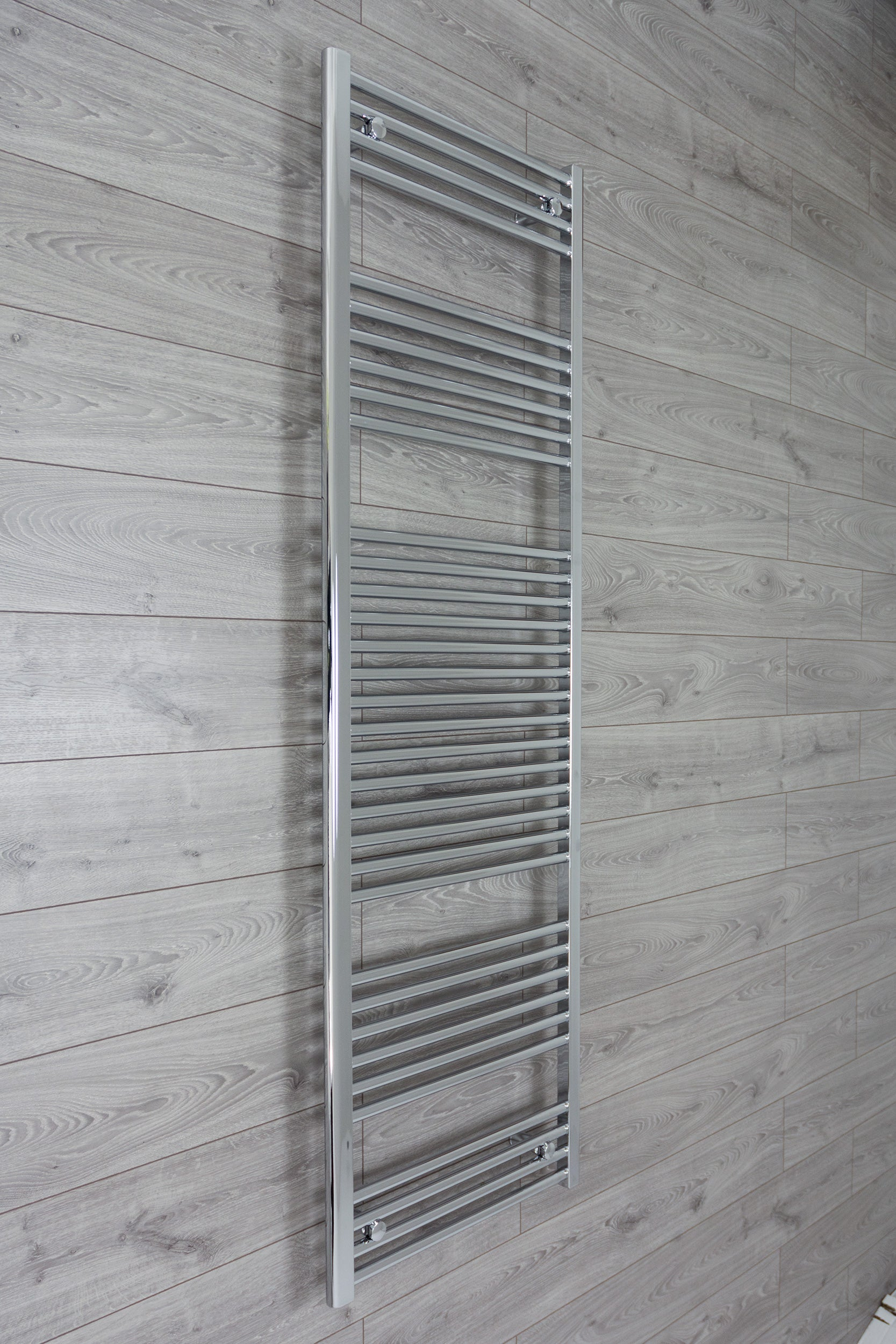 500mm Wide 1850mm High Chrome Towel Rail Radiator