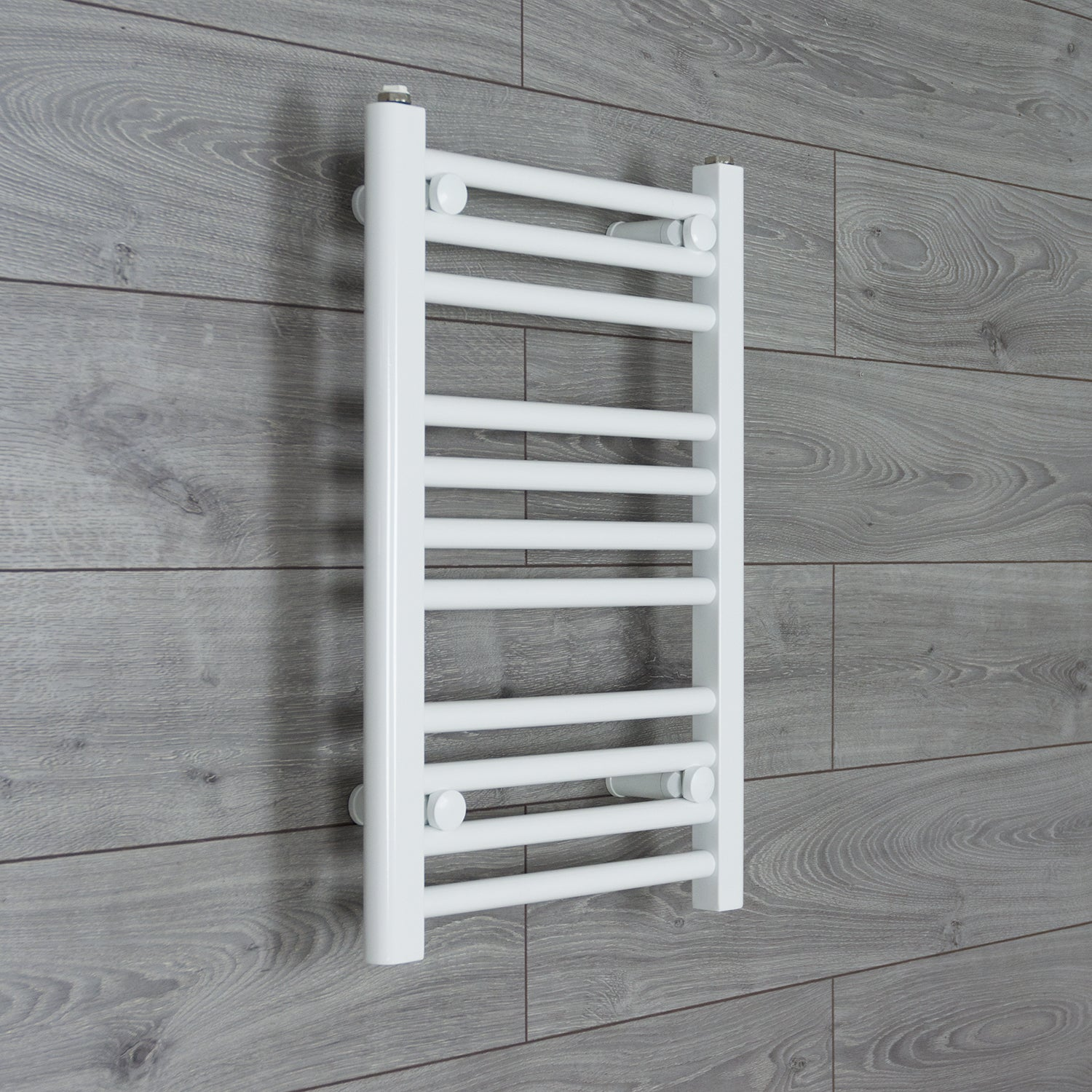 500x600mm Flat White Electric Element Towel Rail