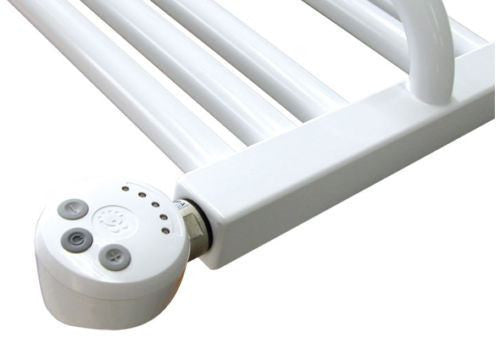 White Thermostatic Heating Element - MEG For Heated Towel Rail Radiator - Elegant Radiators