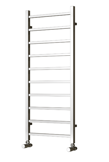 Reina Designer Serena Vertical Chrome Heated Towel Rail Steel Radiator - Elegant Radiators