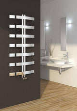 Reina Designer Riesi Vertical Heated Towel Rail Stainless Steel Radiator - Elegant Radiators