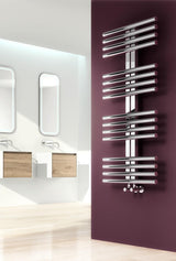 Reina Designer Sorento Vertical Heated Towel Rail Stainless Steel Radiator