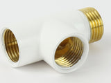 T-piece Dual Fuel Adaptor White For Towel Rail