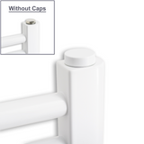 White Cover Caps For Heated Towel Rail Bleed & Blanking Plugs