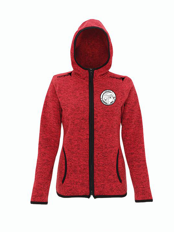Melange Women's Knit Fleece Jacket - Spansk Vannhundklubb