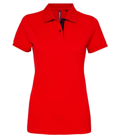 Women's contrast polo