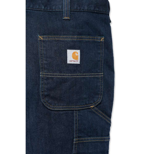 DOUBLE FRONT DUNGAREE JEANS - RUGGED FLEX®