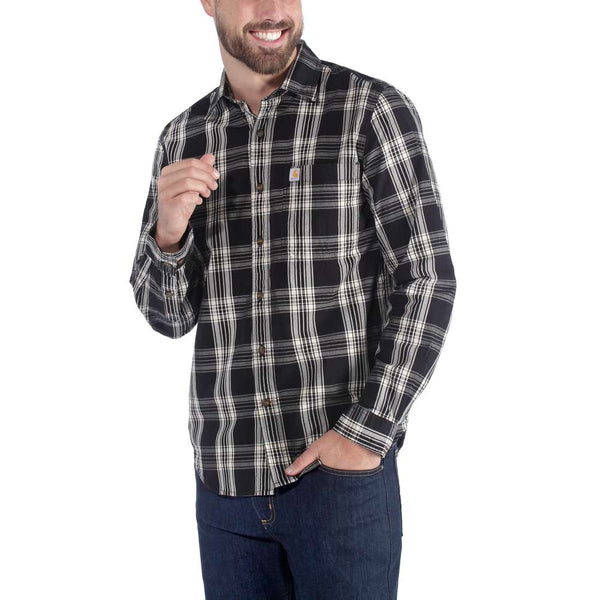 L/S ESSENTIAL OPEN COLLAR SHIRT PLAID - NSK