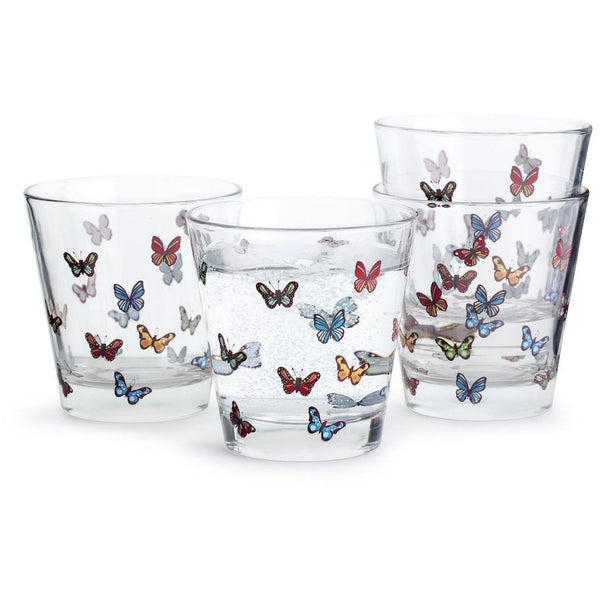 Butterfly Glass 4-Pack Multi