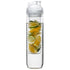 Bottle with fruit piston, Clear