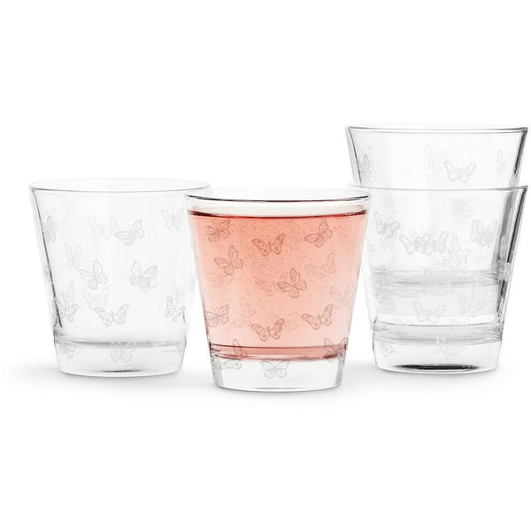 Butterfly Glass 4-Pack White